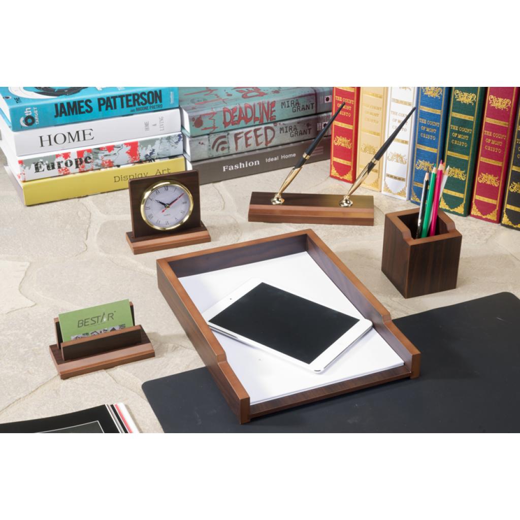 Настольный набор Bestar деревянный Gradient на 6 предметов Орех (6133FDX)