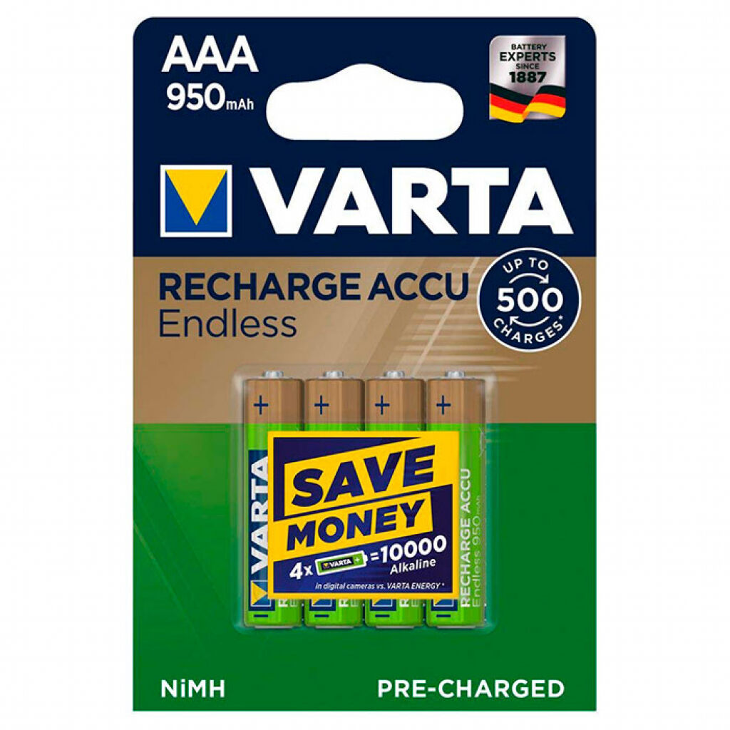 Аккумулятор Varta AAA Rechargeable Accu Endless 950mAh * 4 (56683101404)