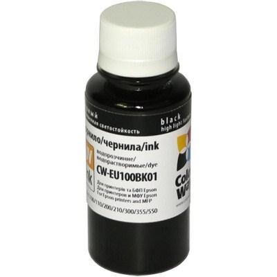 Чернила ColorWay Epson L100/L200 Black (CW-EU100BK01)