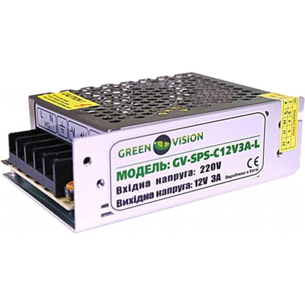 Блок питания для систем видеонаблюдения Greenvision GV-SPS-C 12V3A-L (3447)