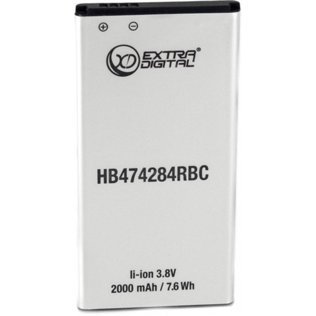 Аккумуляторная батарея для телефона Extradigital Huawei Ascend Y538 HB474284RBC 2000 mAh (BMH6433)