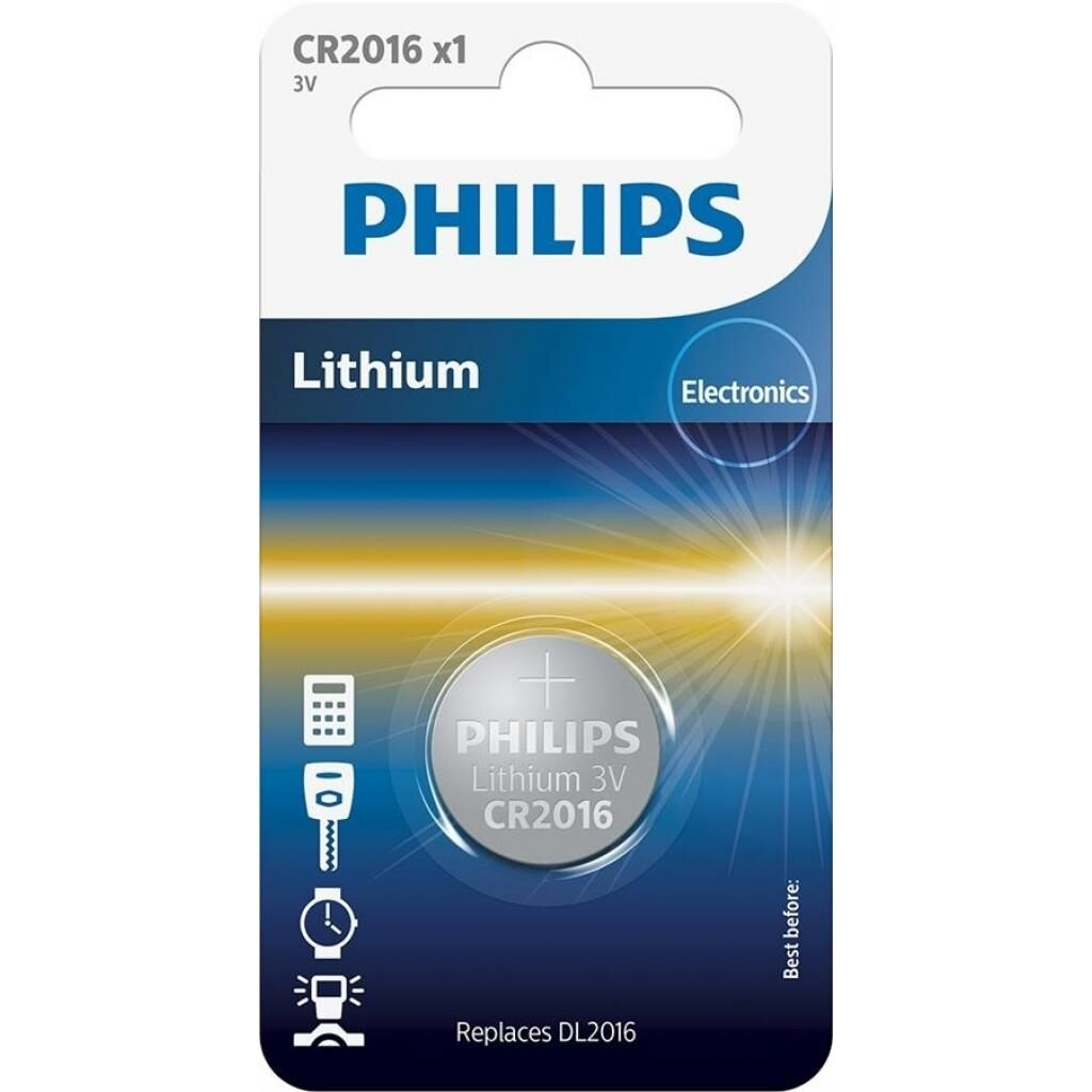 Батарейка PHILIPS CR2016 Lithium (CR2016/01B)