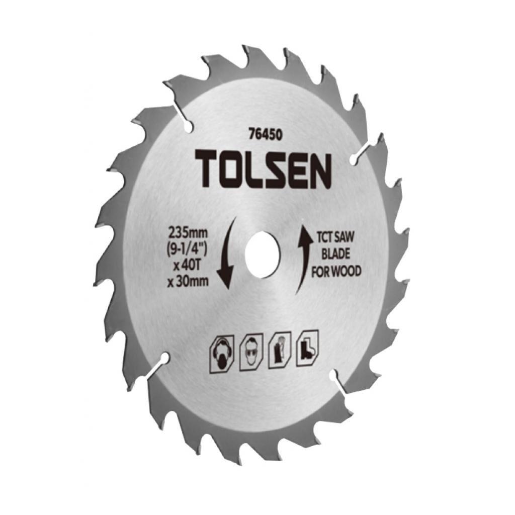 Диск Tolsen пильный с ТВС напайками по дереву 254х60Т*30мм (76461)