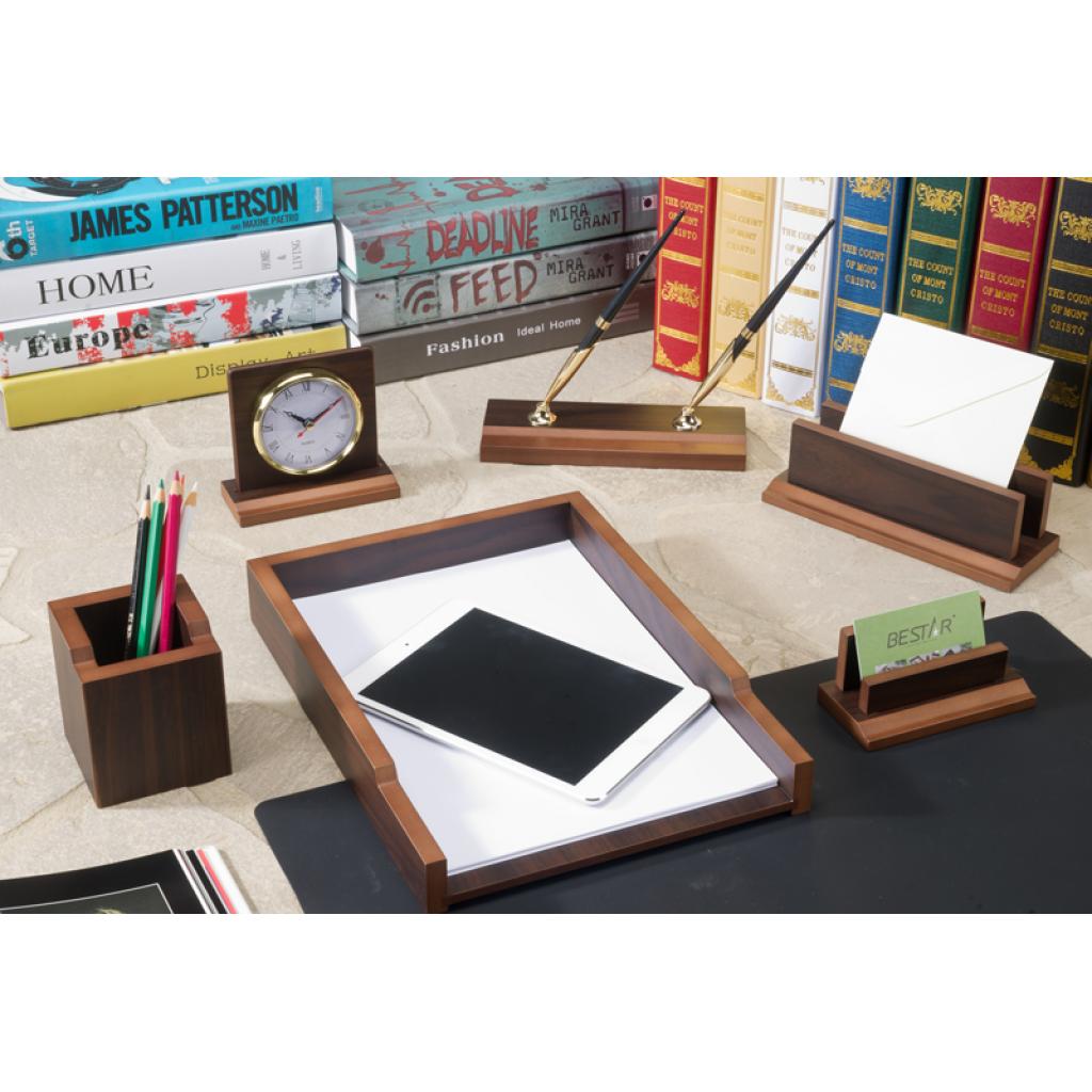 Настольный набор Bestar деревянный Gradient на 7 предметов Орех (7133FDX)