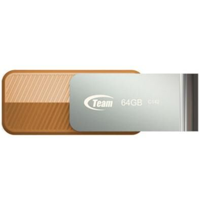 USB флеш накопитель Team 64GB C142 Brown USB 2.0 (TC14264GN01)