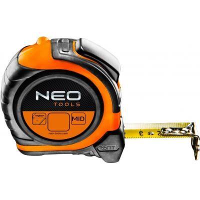 Рулетка Neo стальная лента 5 м x 25 мм, магнит, двусторонний (67-195)