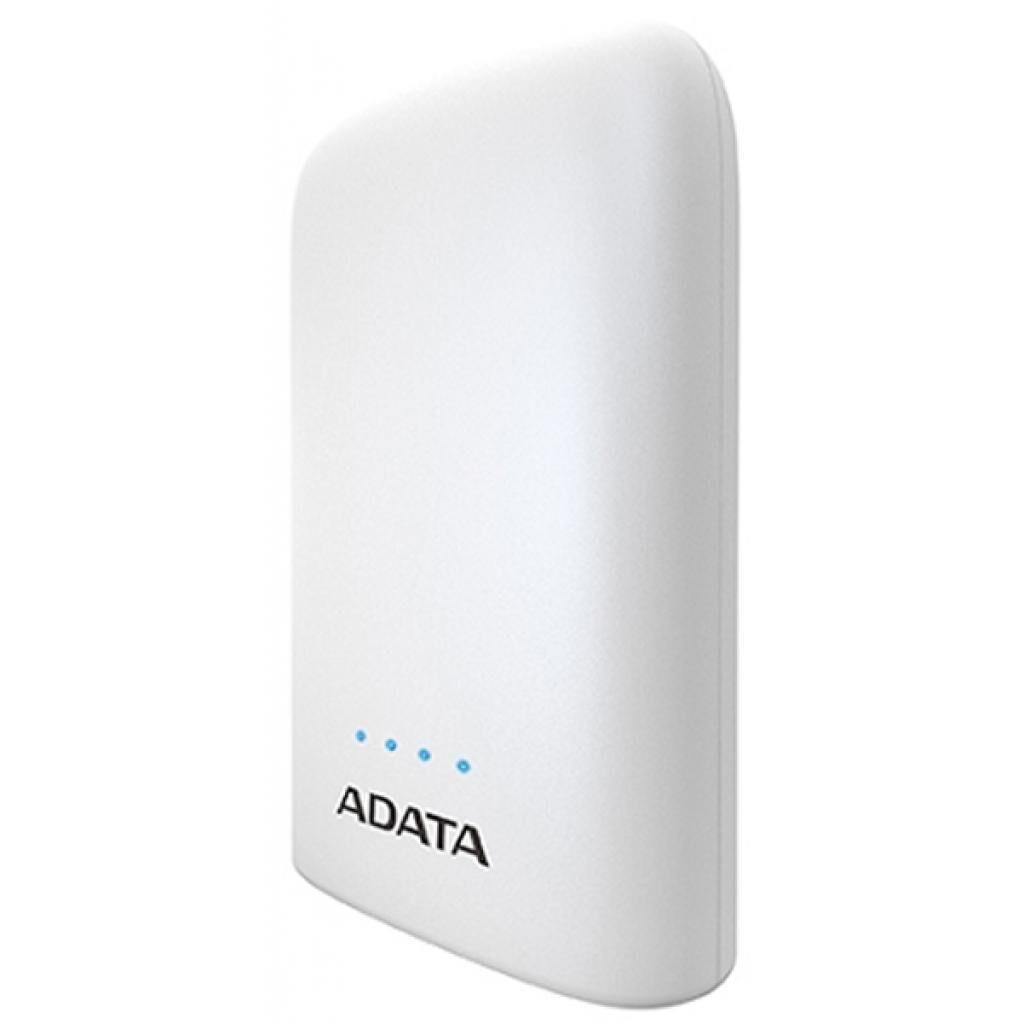 Батарея универсальная ADATA P10050V White (10050mAh, 2*5V*2,4A max, cable Micro-USB) (AP10050V-DUSB-CWH)