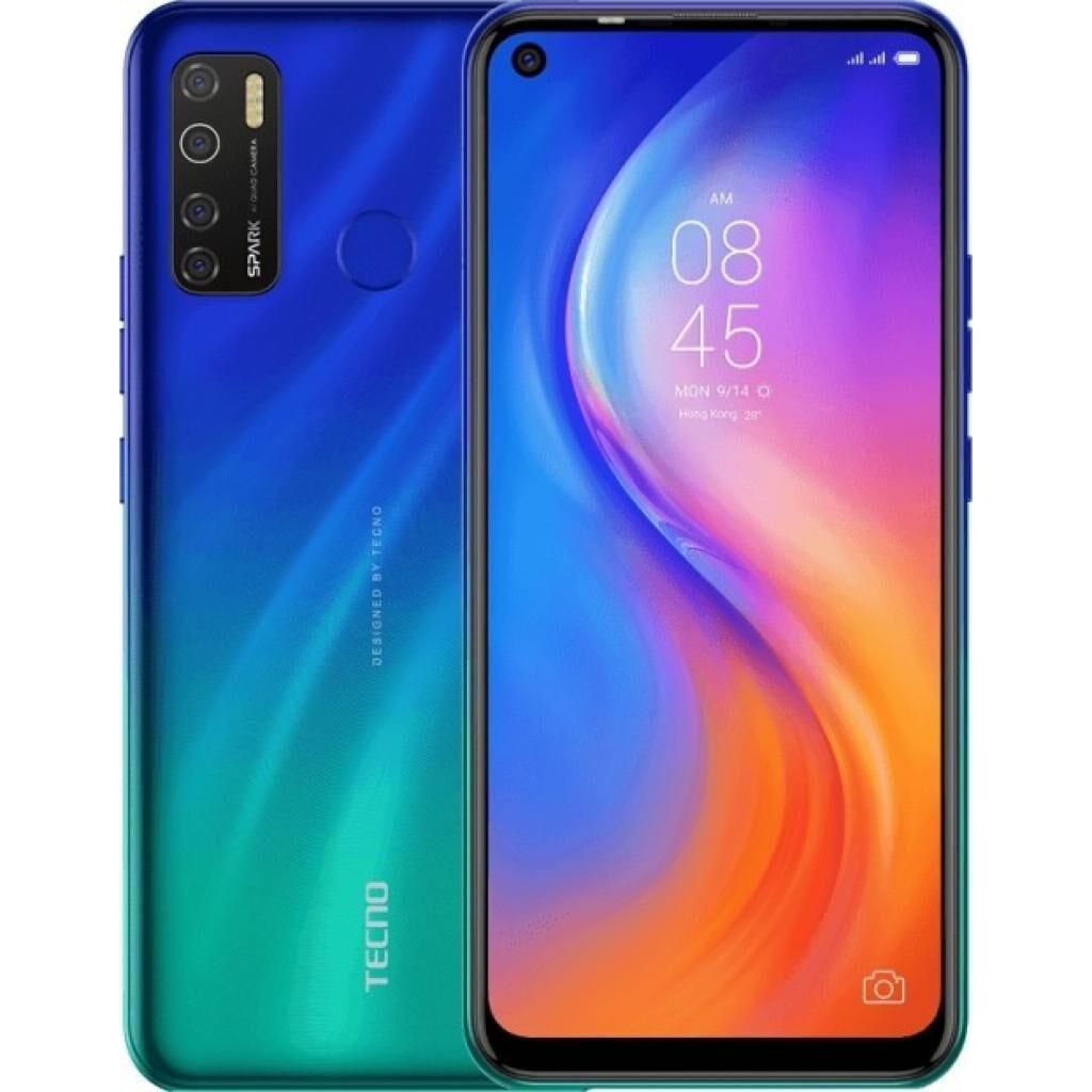 Мобильный телефон TECNO KD7 (Spark 5 Pro 4/128Gb) Seabed Blue (4895180760273)