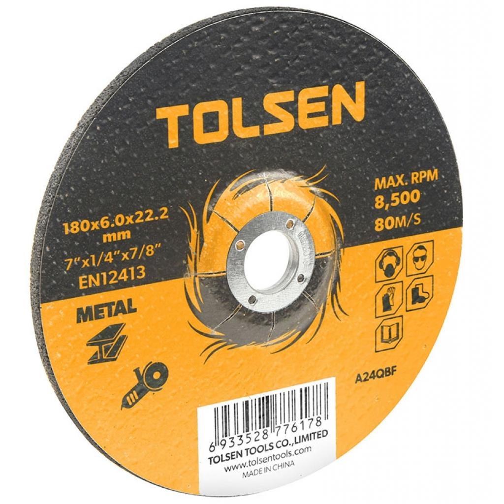 Диск Tolsen шлифовальный по металлу 115х6.0*22.2мм (76302)