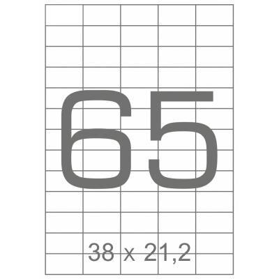 Этикетка самоклеящаяся TAMA 38х21,2 (65 на листі) с/кл (100листів) (17795)
