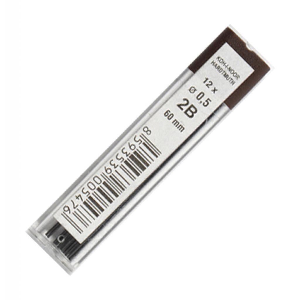 Грифель для механического карандаша Koh-i-Noor 4152.2B 0.5 мм, 12шт (415202B005PK)
