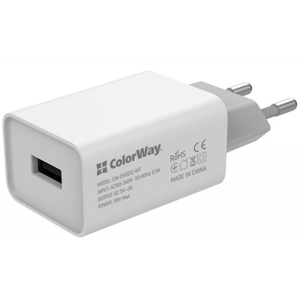 Зарядное устройство ColorWay 1USB AUTO ID 2A (10W) (CW-CHS012-WT)