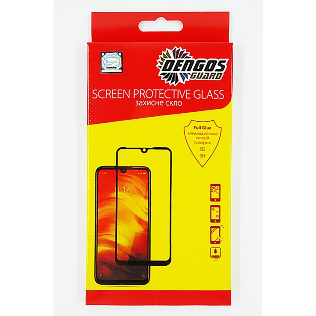 Стекло защитное DENGOS Full Glue для Samsung Galaxy A10s (black) (TGFG-78)