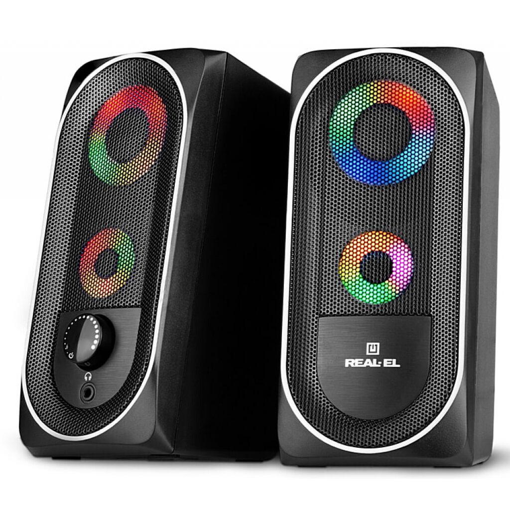 Акустическая система REAL-EL S-110 USB Black