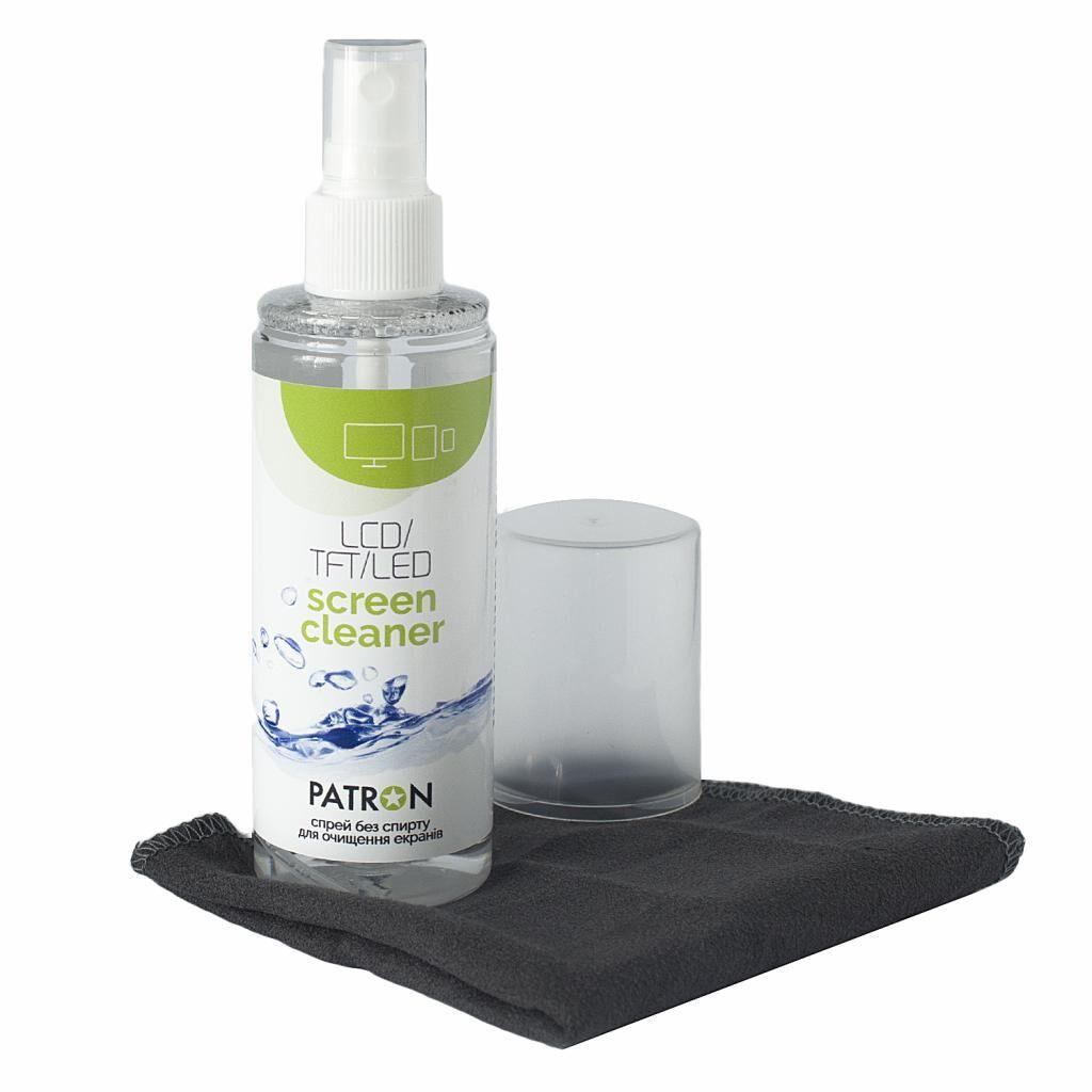 Спрей для очистки Patron Screen spray for TFT/LCD/LED 120ml +microfiber 20х20 (F3-022)