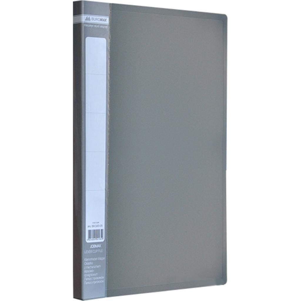 Папка с зажимом Buromax А4 JOBMAX, gray (BM.3401-09)