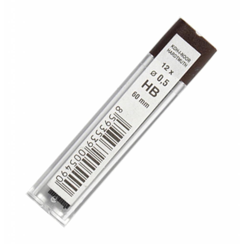Грифель для механического карандаша Koh-i-Noor 4152.HB, 0.5 мм, 12шт (41520HB005PK)
