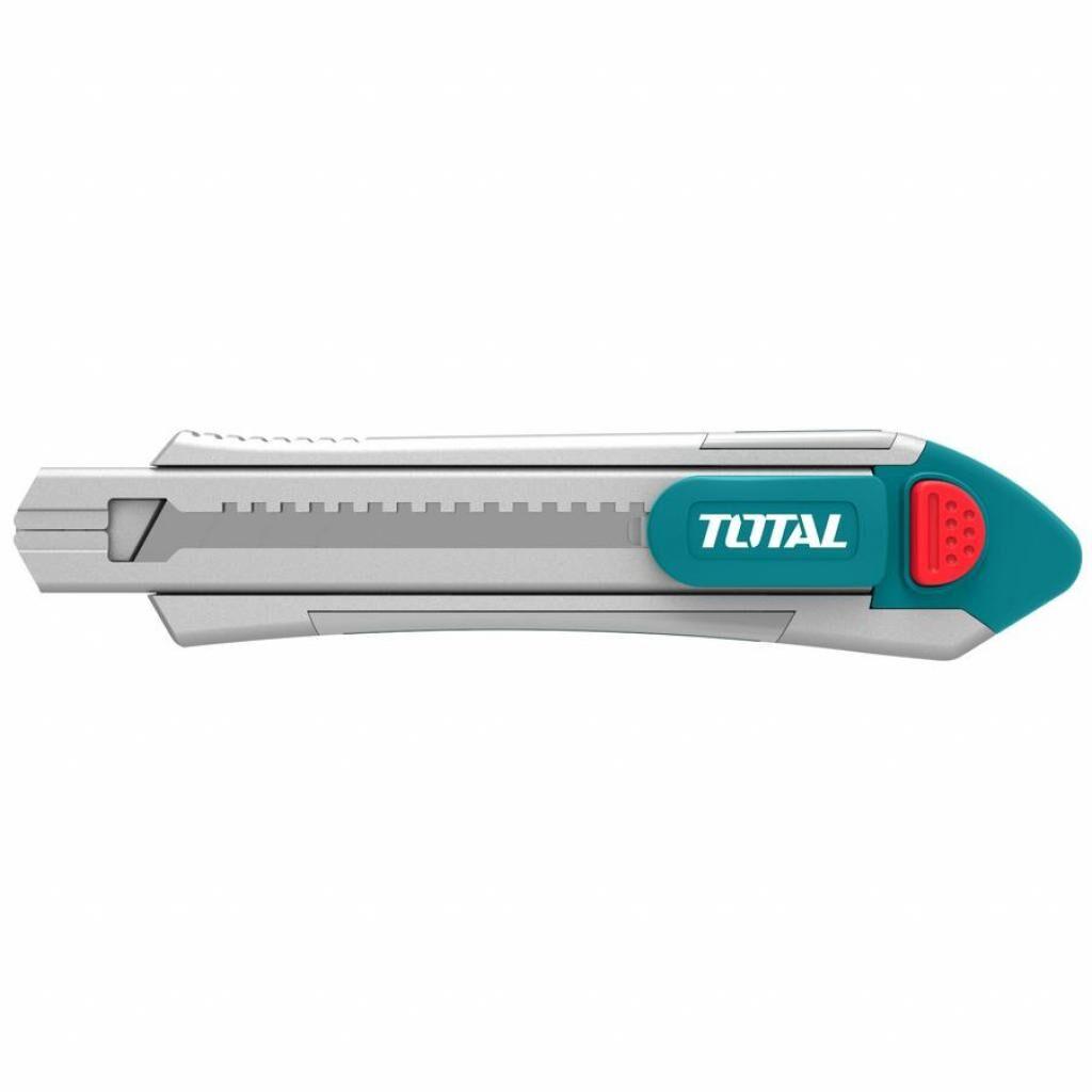 Нож монтажный TOTAL выдвижное лезвие 18x100мм, длина 178мм (TG5121806)