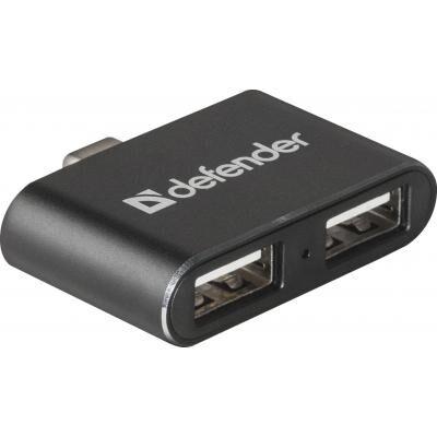 Концентратор Defender Quadro Dual USB3.1 TYPE C - USB2.0, 2 port (83207)