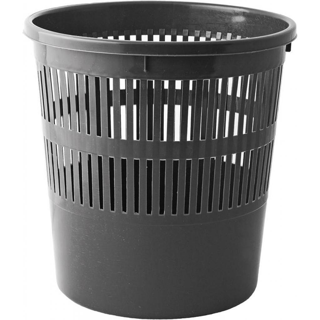 Корзина для бумаг Buromax JOBMAX, 8л, пластиковая, черная (BM.1920-01)