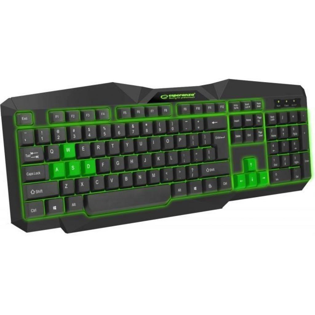 Клавиатура Esperanza EGK201 Green USB LED (EGK201GUA)