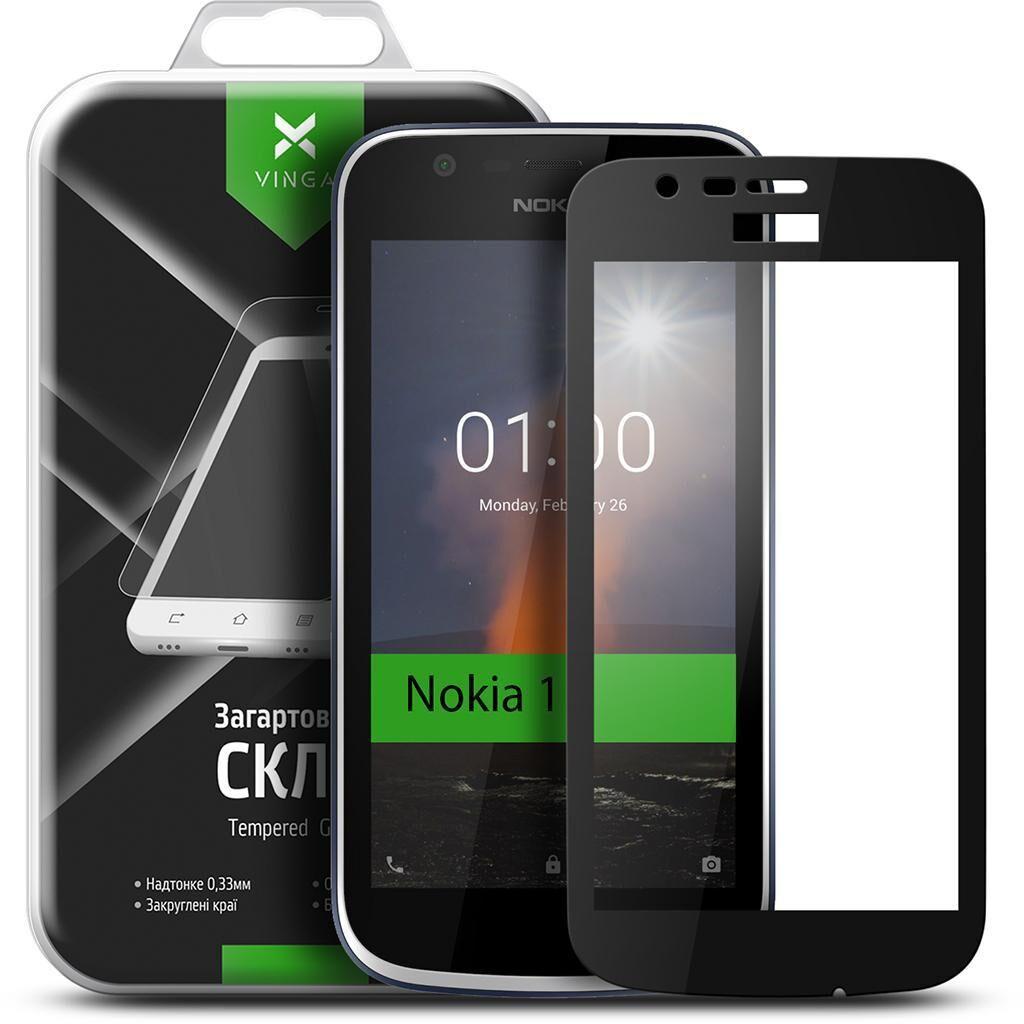 Стекло защитное Vinga для Nokia 1 Black (VTPGS-N1B)