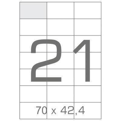 Этикетка самоклеящаяся TAMA 70х42,4 (21 на листі) с/кл (100листів) (17806)