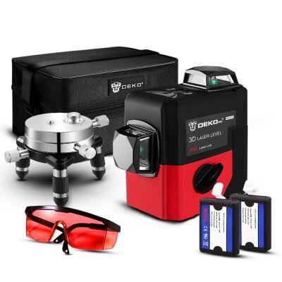 Лазерный нивелир DEKO 3D LL12-HVRL (12164)
