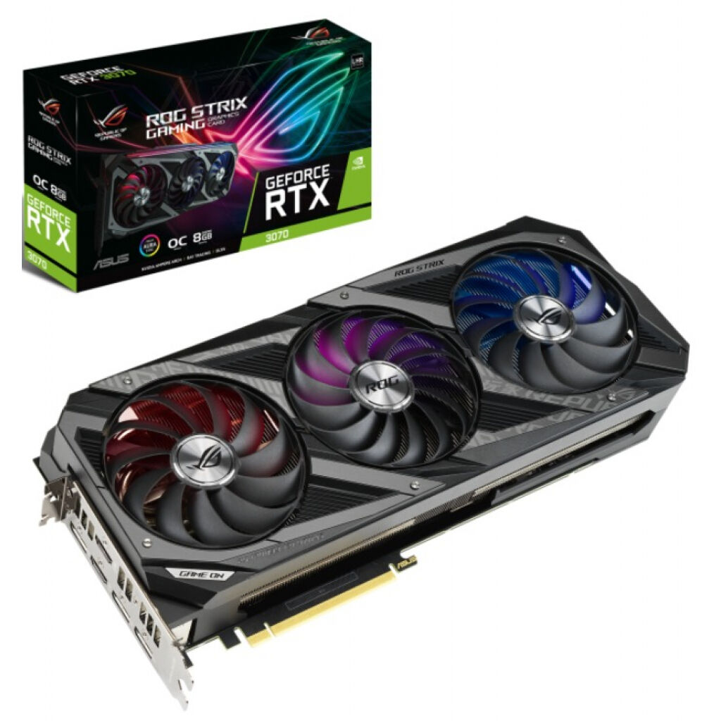 Видеокарта ASUS GeForce RTX3070 8Gb ROG STRIX OC GAMING LHR (ROG-STRIX-RTX3070-O8G-V2-GAMING)