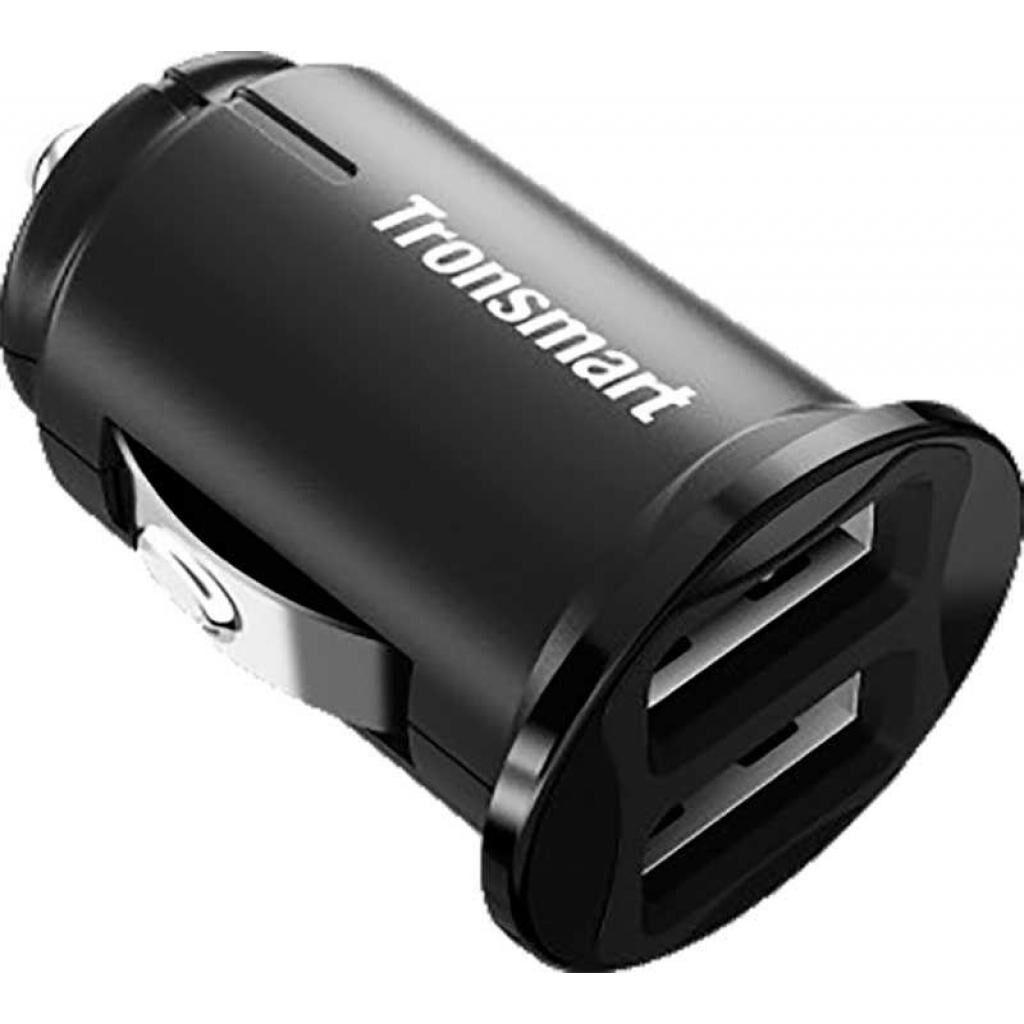 Зарядное устройство Tronsmart C24 Dual USB Port Car Charger Black (236876)