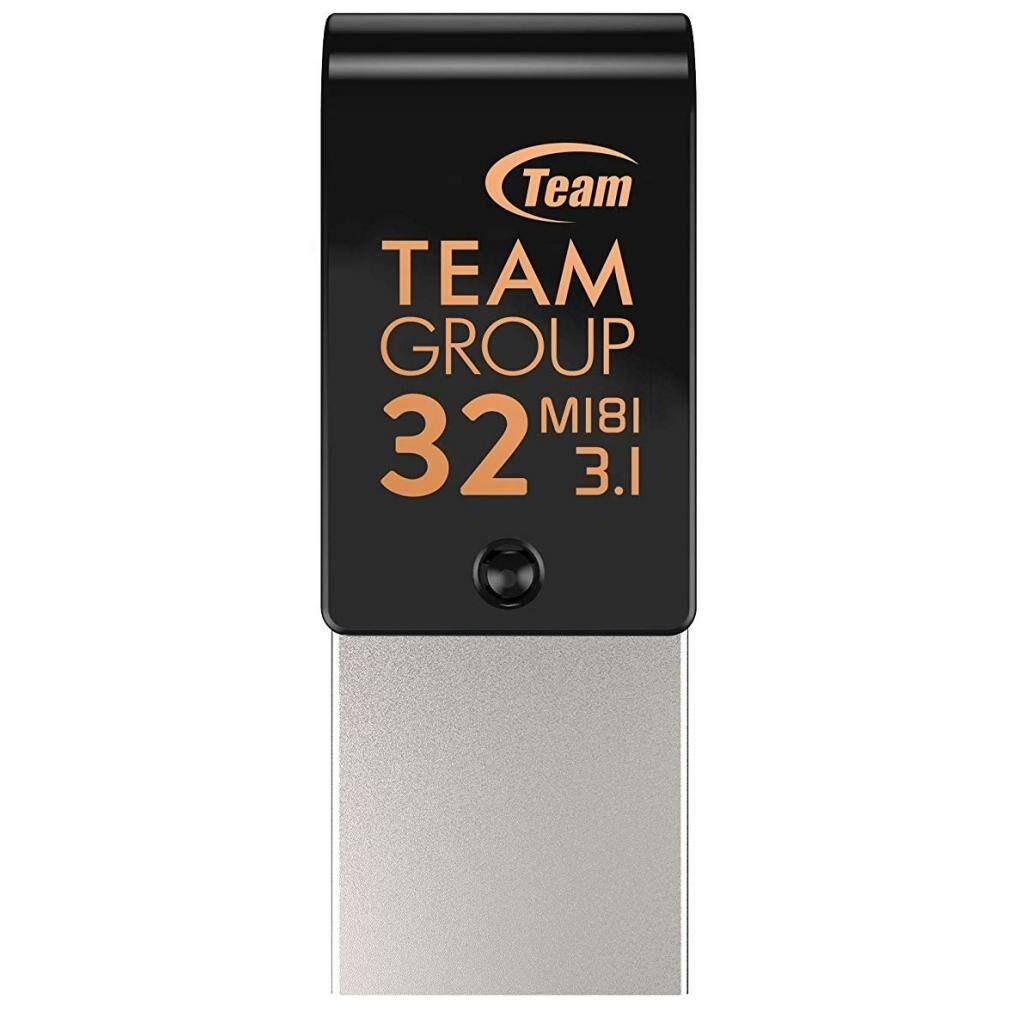 USB флеш накопитель Team 32GB M181 Black USB 3.1/Type-C (TM181332GB01)