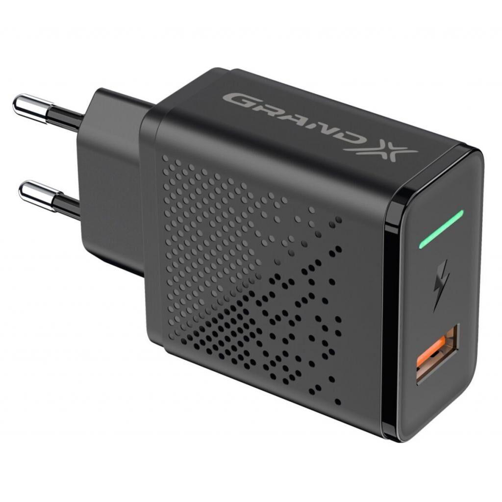 Зарядное устройство Grand-X Fast Charge 3-в-1 Quick Charge 3.0, FCP, AFC, 18W CH-650 (CH-650)
