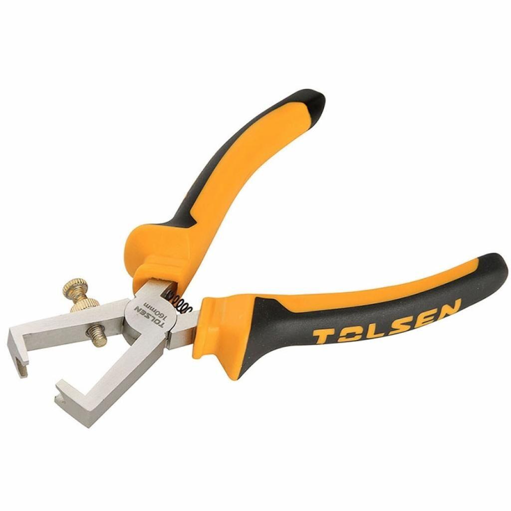 Клещи Tolsen для снятия изоляции 160 мм Ерго рукоятки (10013)