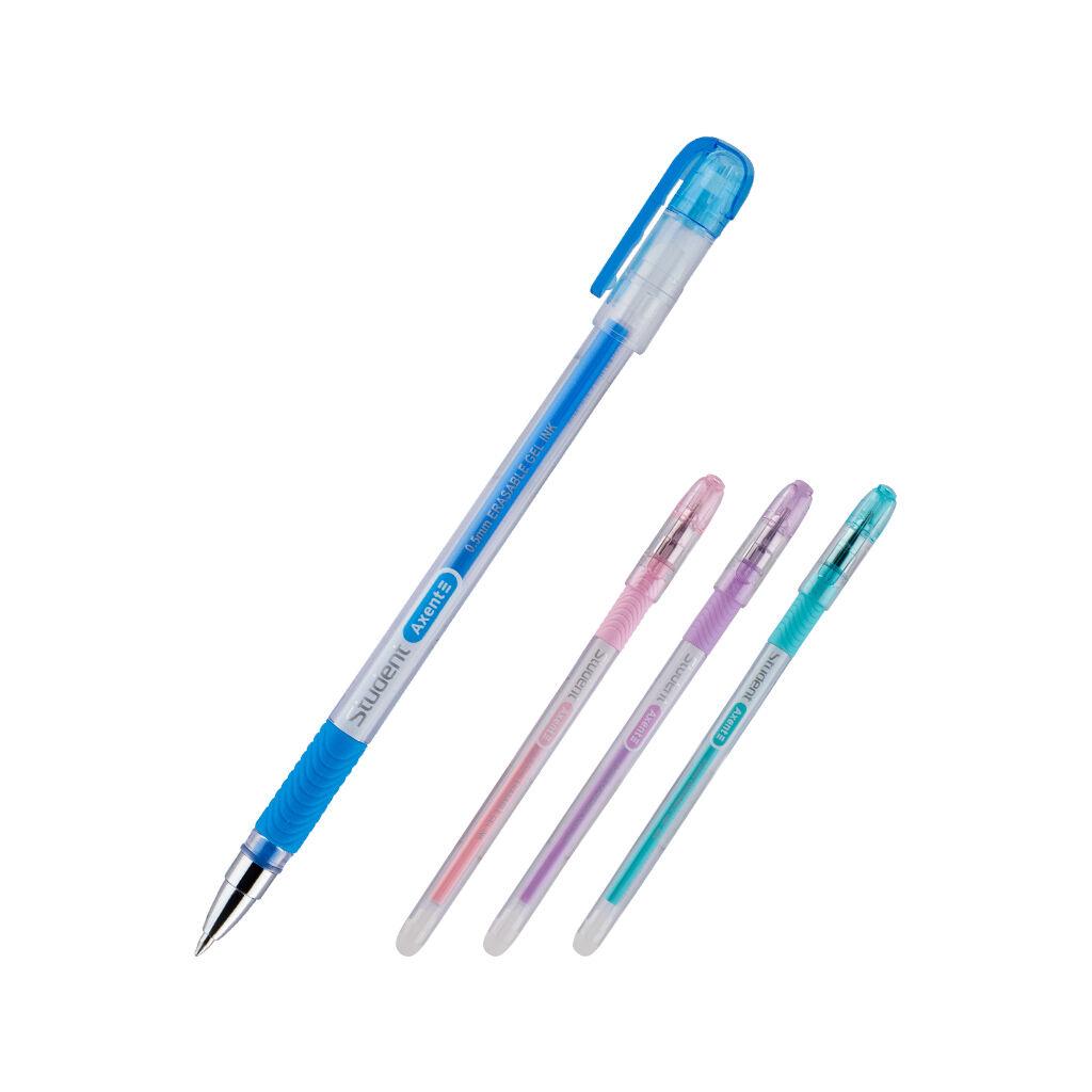 Ручка гелевая Axent Пиши-стирай Student, синяя (AG1071-02-A)