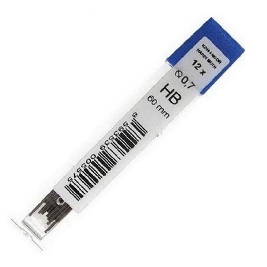 Грифель для механического карандаша Koh-i-Noor 4162.HB, 0.7 мм, 12шт (41620HB007PK)