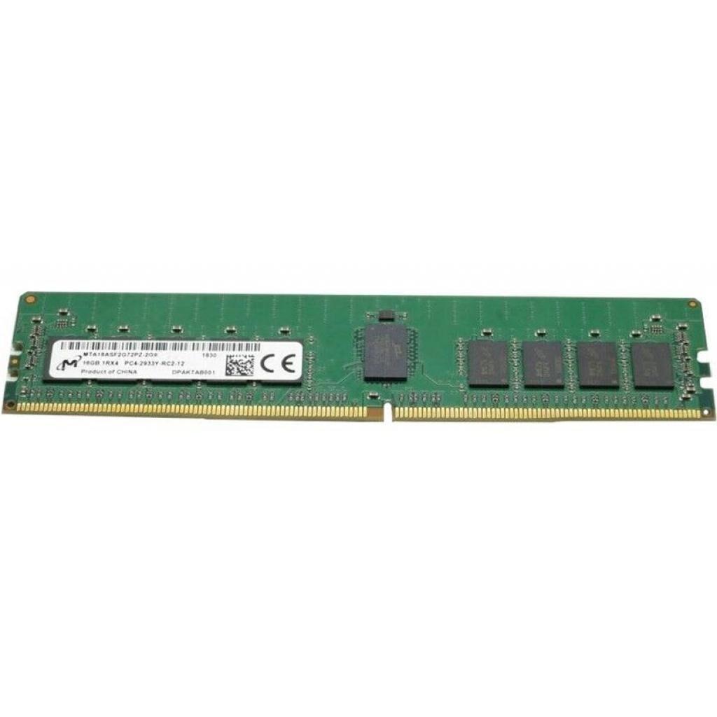 Модуль памяти для сервера DDR4 16GB ECC RDIMM 2933MHz 1Rx4 1.2V CL21 MICRON (MTA18ASF2G72PZ-2G9E1)